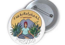 Commemorative #wehiketoheal 5th anniversary Button
